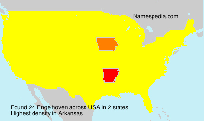 Surname Engelhoven in USA