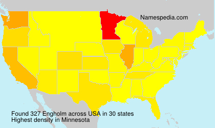 Surname Engholm in USA