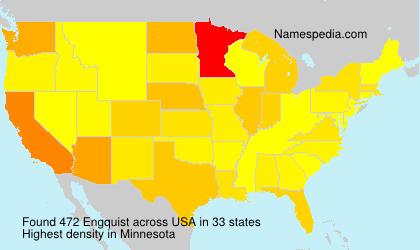 Familiennamen Engquist - USA