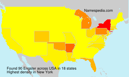Surname Engster in USA