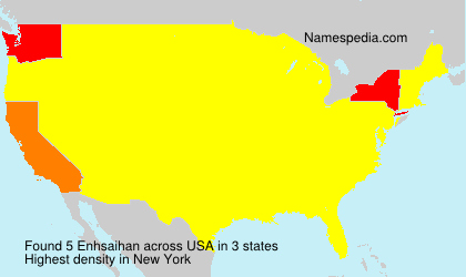 Surname Enhsaihan in USA