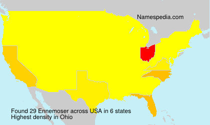 Familiennamen Ennemoser - USA