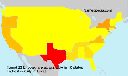 Familiennamen Enobakhare - USA