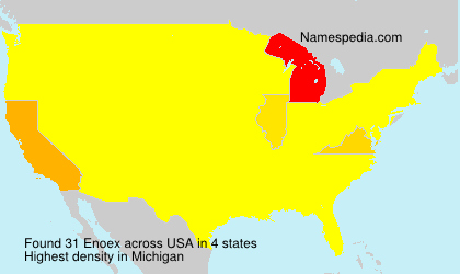 Surname Enoex in USA
