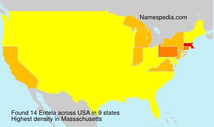 Surname Entela in USA