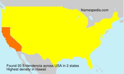 Surname Entendencia in USA