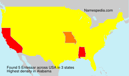 Familiennamen Entessar - USA