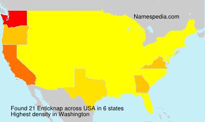 Familiennamen Enticknap - USA