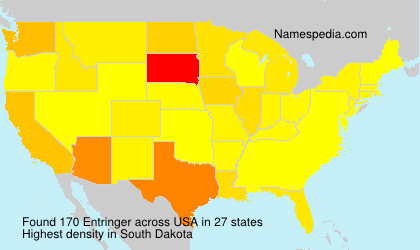 Surname Entringer in USA