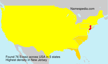 Surname Eosso in USA