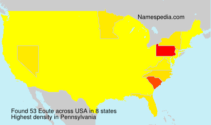 Surname Eoute in USA