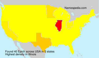 Surname Epich in USA