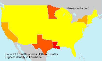 Surname Epinette in USA