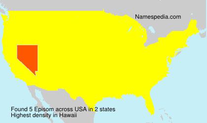 Surname Episom in USA
