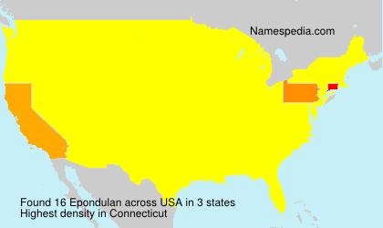Surname Epondulan in USA
