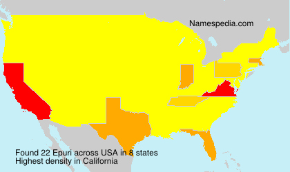 Surname Epuri in USA