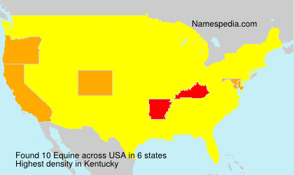 Surname Equine in USA