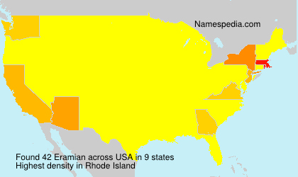 Surname Eramian in USA