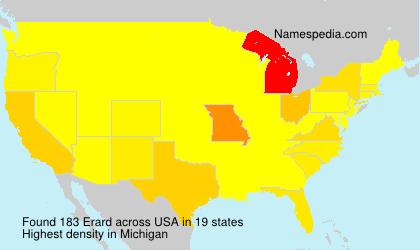 Surname Erard in USA