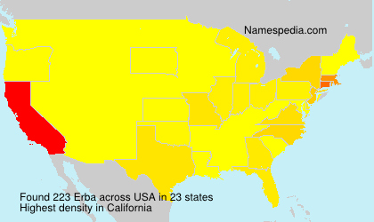 Surname Erba in USA