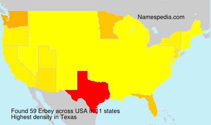 Surname Erbey in USA