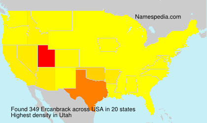 Surname Ercanbrack in USA