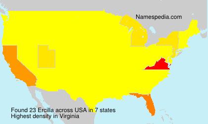 Surname Ercilla in USA