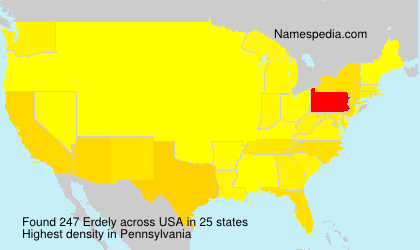 Surname Erdely in USA