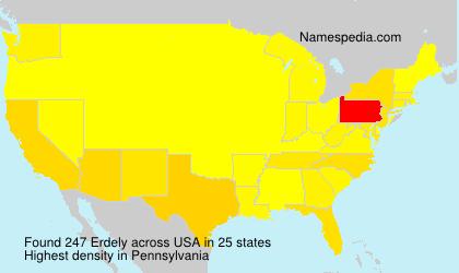 Surname Erdely in USA