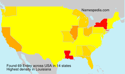 Surname Erdey in USA