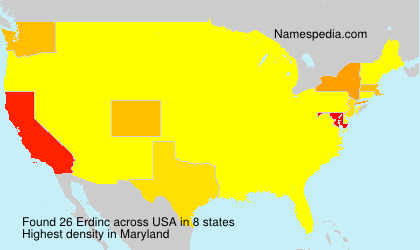 Surname Erdinc in USA
