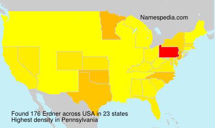 Surname Erdner in USA