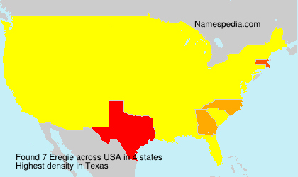 Surname Eregie in USA