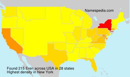 Surname Eren in USA