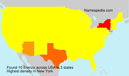 Surname Erenzo in USA
