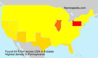 Surname Erfort in USA