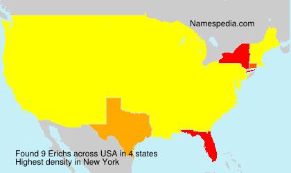 Surname Erichs in USA