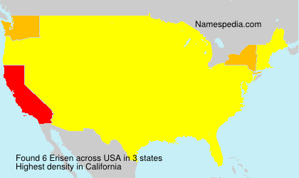 Surname Erisen in USA