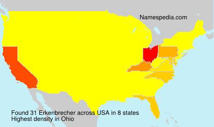 Surname Erkenbrecher in USA