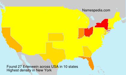 Surname Erlenwein in USA