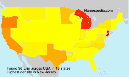 Surname Erm in USA