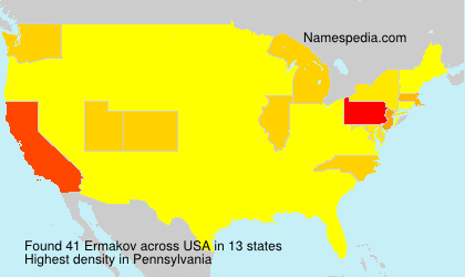 Surname Ermakov in USA