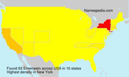 Familiennamen Ernenwein - USA