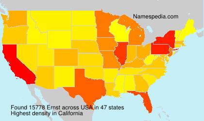 Familiennamen Ernst - USA