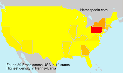 Surname Eross in USA