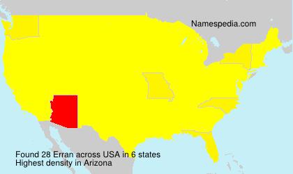 Surname Erran in USA
