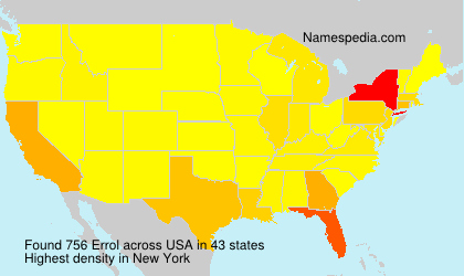 Surname Errol in USA