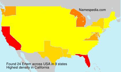 Surname Ertem in USA