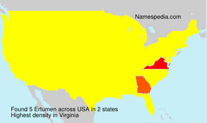 Surname Ertumen in USA