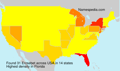 Surname Erzsebet in USA